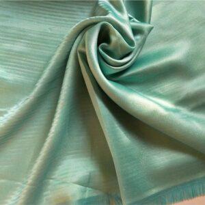 Deluxe Shimmer Silk Stole Sparkling Aqua