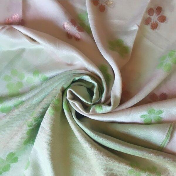 Deluxe Silk Floral Hijab Cream