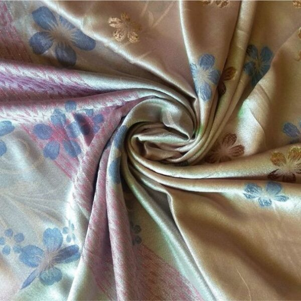 Deluxe Silk Floral Hijab Iced Coffee