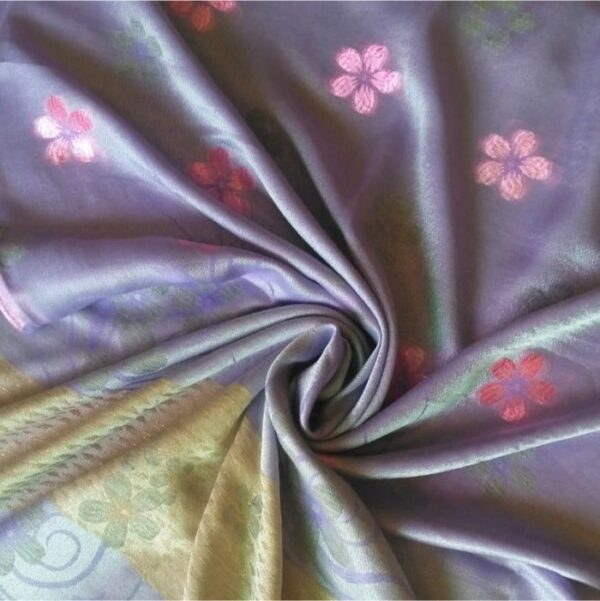 Deluxe Silk Floral Hijab Mauve