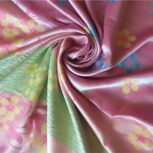 Deluxe Silk Floral Hijab Pink