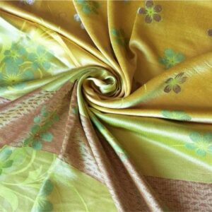 Deluxe Silk Floral Hijab Yellow