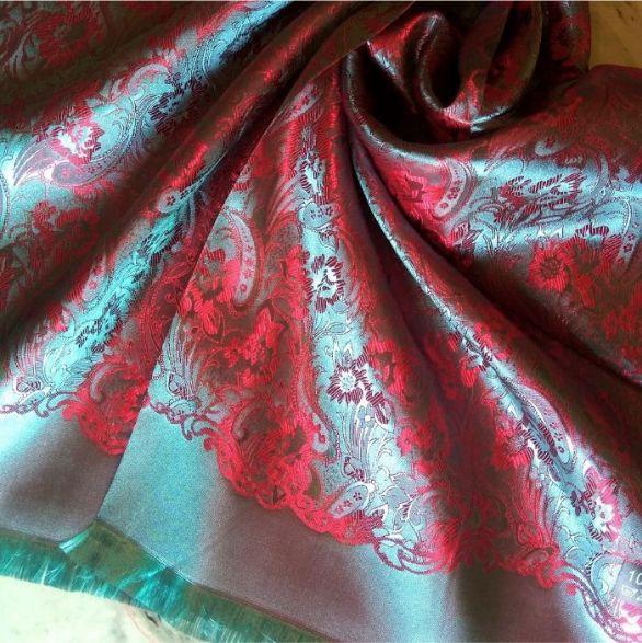 Deluxe Silk Hijab Stole Aqua