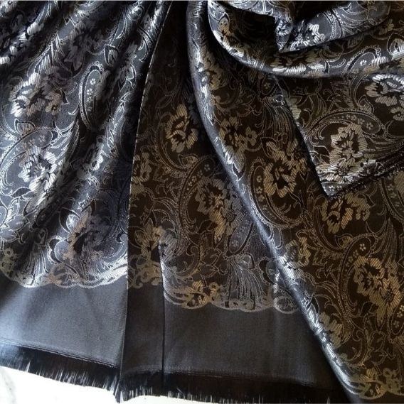 Deluxe Silk Hijab Stole Black