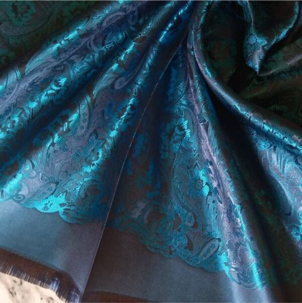 Deluxe Silk Hijab Stole Blue