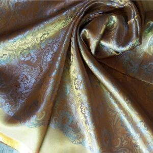 Deluxe Silk Hijab Stole Light Gold