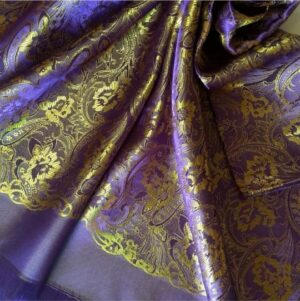Deluxe Silk Hijab Stole Purple