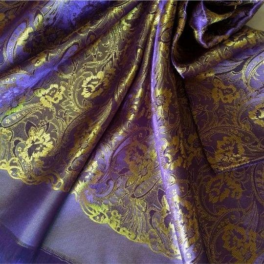 Deluxe Silk Hijab Stole Purple