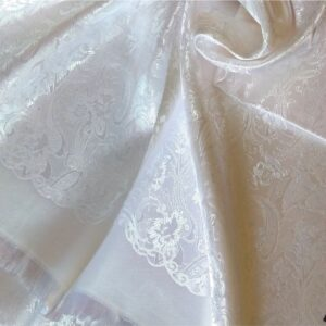 Deluxe Silk Hijab Stole White