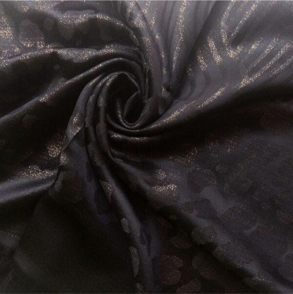 Fancy Silk Stole Black