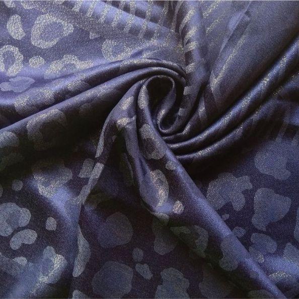 Fancy Silk Stole Blue