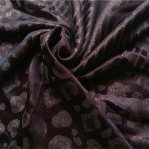 Fancy Silk Stole Brown