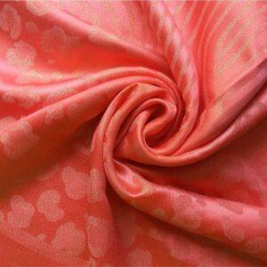 Fancy Silk Stole Coral