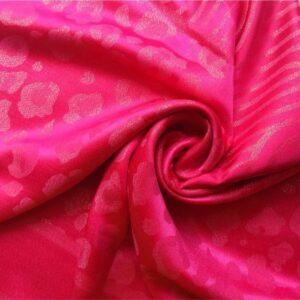 Fancy Silk Stole Dark Pink