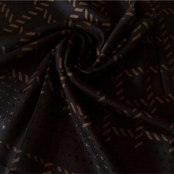 Fancy Turkish Cotton Stole Black