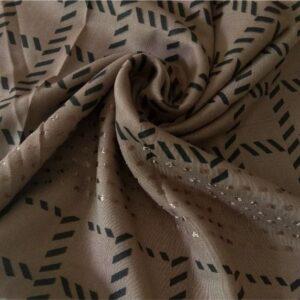 Fancy Turkish Cotton Stole Brown