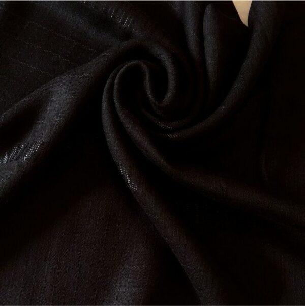 Fancy Turkish Cotton Stole Jet Black