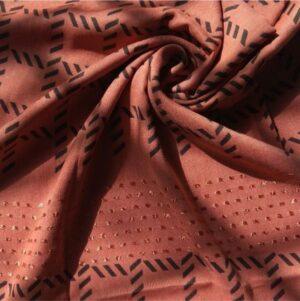 Fancy Turkish Cotton Stole Rouge