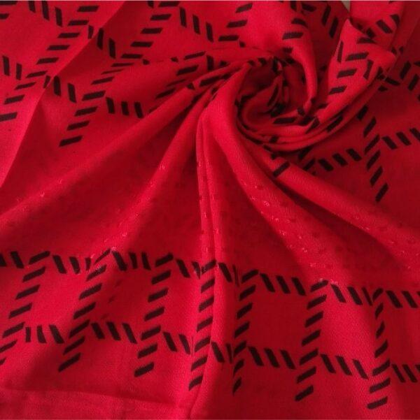 Fancy Turkish Cotton Stole Scarlet Red
