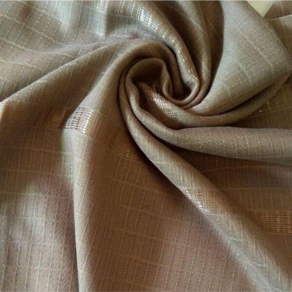 Fancy Turkish Cotton Stole Umber Brown