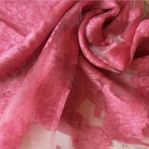 Floral Organza Stole Feather Pink