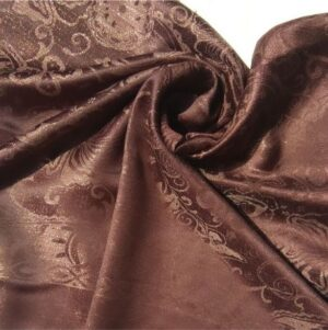 Glittery Floral Silk Brown