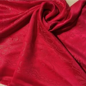 Glittery Floral Silk Red