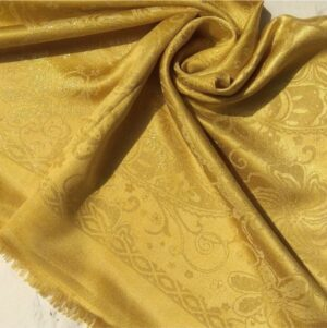 Glittery Floral Silk Yellow