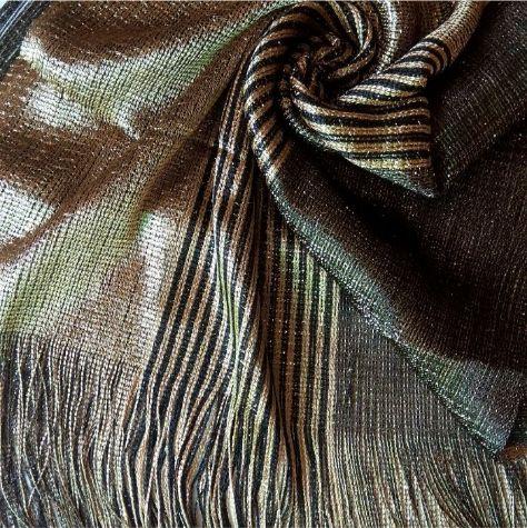 Shimmer Net Stole Golden