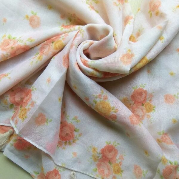 Everyday Lawn Floral Hijab White