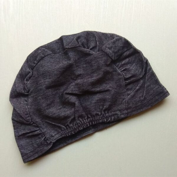 Hijab Cap Denim Grey Back