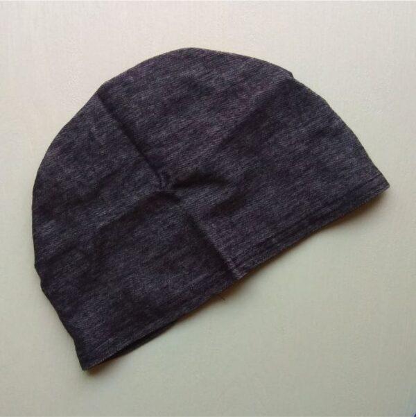 Hijab Cap Denim Grey Front