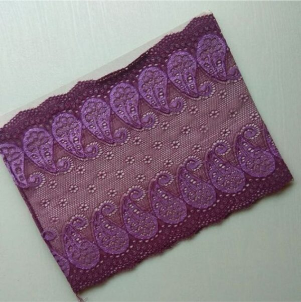Net Band Hijab Cap Amethyst Purple