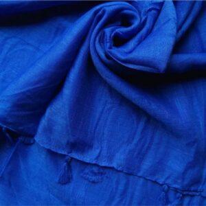 Plain Lawn Stole Royal Blue