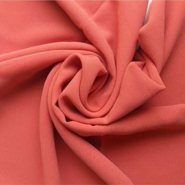 Premium Georgette Hijab Coral Pink