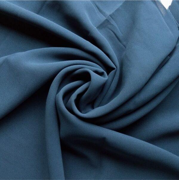Premium Georgette Hijab Pthalo Blue