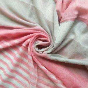 Premium Lawn Striped Hijab Pink