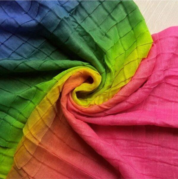 Tie & Dye Lawn Hijab Rainbow