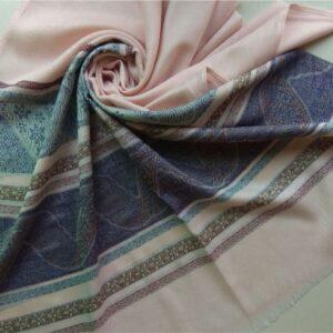 Premium Cotton Silk Scarf Baby Pink