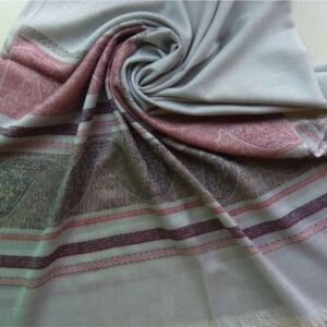 Premium Cotton Silk Scarf Ice Blue