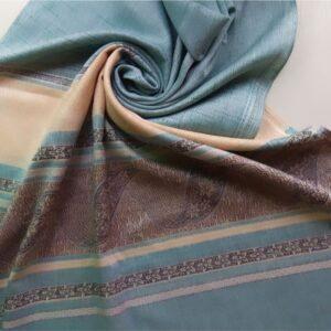 Premium Cotton Silk Scarf Light Turquoise