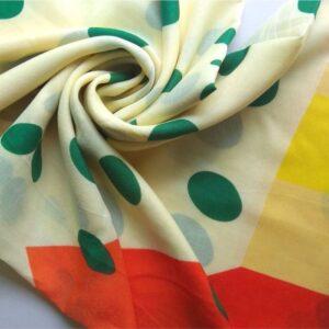 Turkish Lawn Digital Print Hijab Stole Pale Yellow