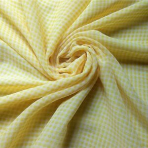 Printed Square Hijab Banana Striped