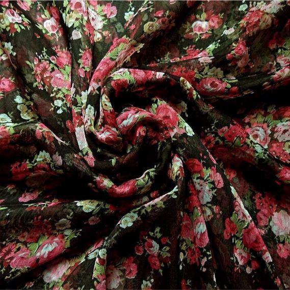 Printed Square Hijab Rose