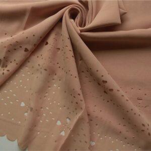 Laser Cut Chiffon Hijab Light Brown