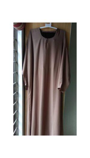 Plain Light Brown Closed Abaya