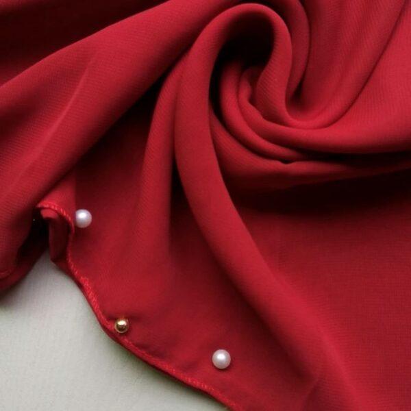 Chiffon Stole Red