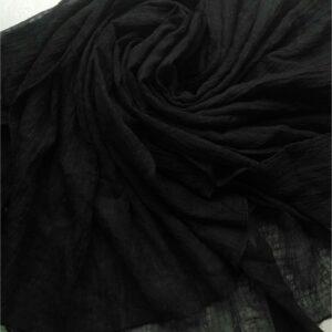 Crushed Chiffon Dupatta Black