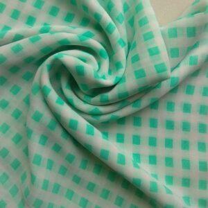 Printed Square Hijab Aqua Matrix
