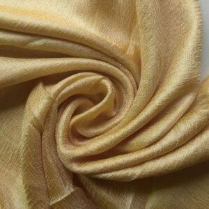 Shimmer Silk Scarf Gold